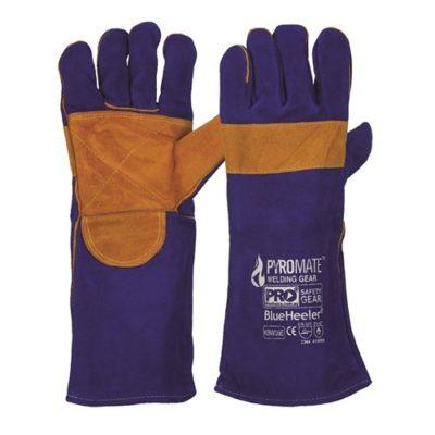 Pyromate® Blue Heeler® – Blue & Gold Kevlar® Large Gloves