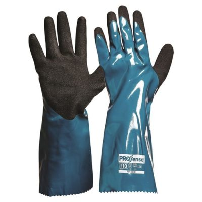 Prochem 35cm Green/Black Nitrile PU Gloves