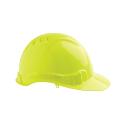 V6 Hard Hat Vented with Pushlock Harness – Fluro Yellow