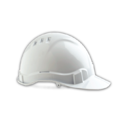 V6 Hard Hat Vented with Pushlock Harness – White