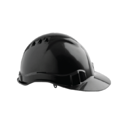 V6 Hard Hat Vented with Pushlock Harness – Black