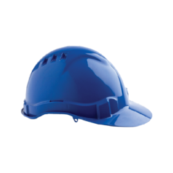 V6 Hard Hat Vented with Pushlock Harness – Blue