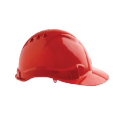 V6 Hard Hat Vented with Pushlock Harness – Red