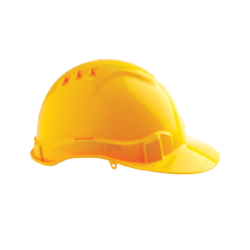 V6 Hard Hat Vented with Pushlock Harness – Yellow